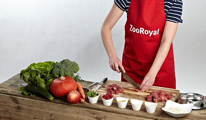 BARF Rezept Rindfleisch Möhre: Schritt 1