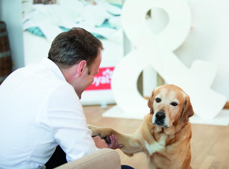 Clemens Bauer mit Hund Jack